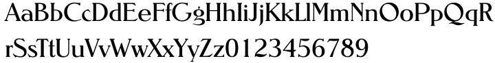 Nevada EF™ Font Sample