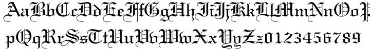 Wedding Text Font Sample