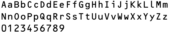 OCR-B EF Font Sample