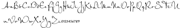 EF Petras Script™ Font Sample
