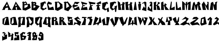 EF Sioux™ Font Sample