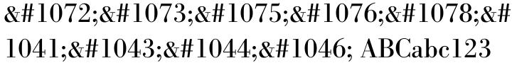 Bodoni Antiqua Font Sample