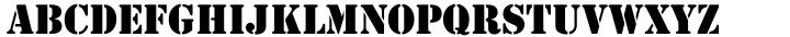 EF Stencil Font Sample