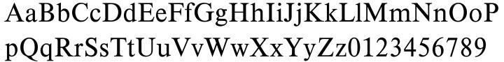Timeless EF™ Font Sample