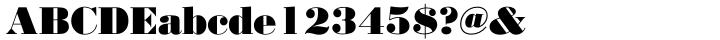 Bodoni No 2™ Font Sample