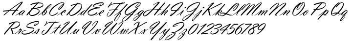 Vladimir Script EF Font Sample