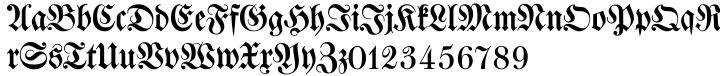 Walbaum Fraktur EF™ Font Sample