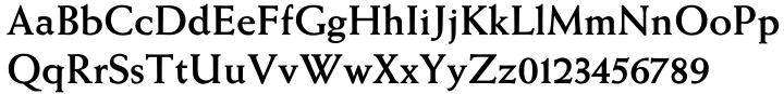 Weiss® Antiqua EF Font Sample