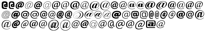 EF Zapping Net™ Font Sample