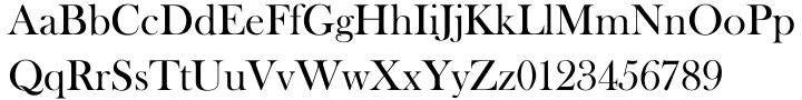 Baskerville Old Face EF™ Font Sample