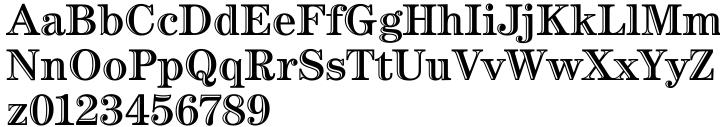 ITC Century Handtooled Font Sample