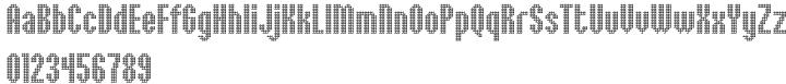 Embossed™ Font Sample