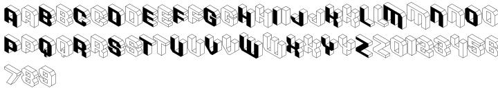 Isometric Initial Caps™ Font Sample