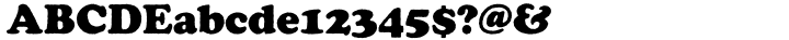 Cooper Black™ Font Sample