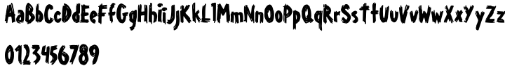 Young Itch AOE Font Sample