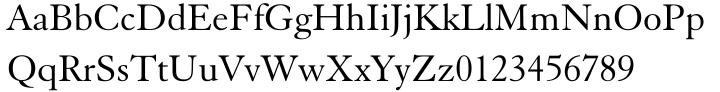 Elegant Garamond Font Sample