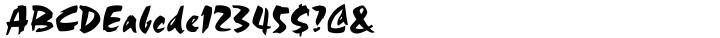Choc™ Font Sample