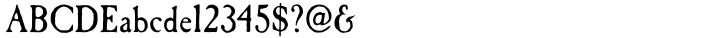 Caslon Antique Font Sample