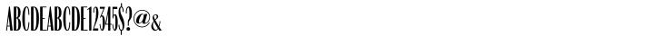 URW Compress™ Font Sample