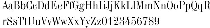 Industrial 736 Font Sample
