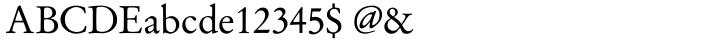 Garamond No 2 Font Sample
