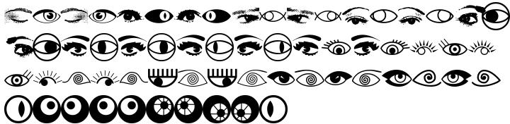 EyeEye Mate™ Font Sample