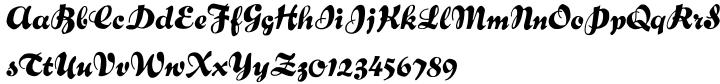 Bernhard Brushscript SG™ Font Sample