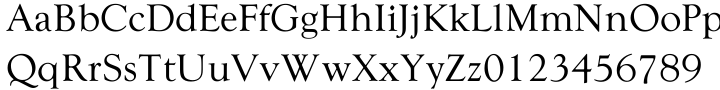 WTC Goudy Font Sample