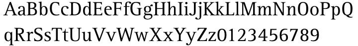 Rotis Serif Font Sample