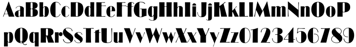 Broadway Font Sample