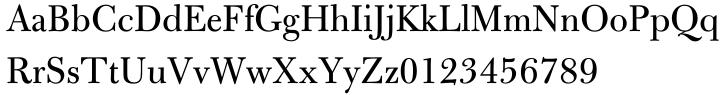 Bulmer® Font Sample