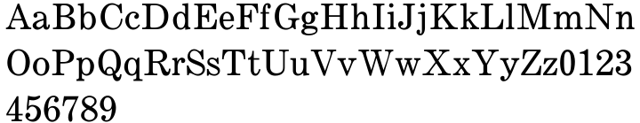 Century Expanded Font Sample