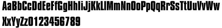 Compacta™ Font Sample