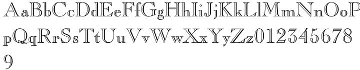 Caslon Openface™ Font Sample