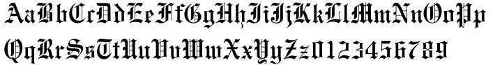 Monotype Engravers Old English Font Sample
