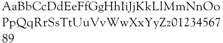 Monotype Goudy™ Font Sample