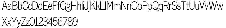 Monotype Lightline Gothic™ Font Sample