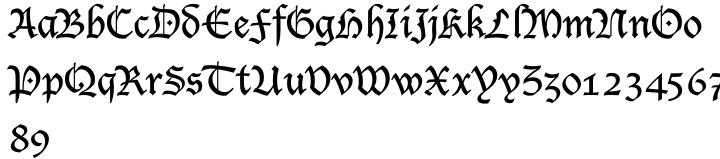 Lucida Blackletter Font Sample