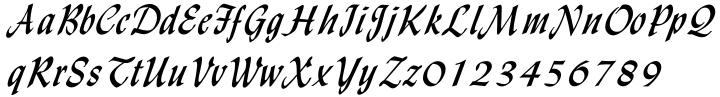 Monotype Lydian Cursive Font Sample