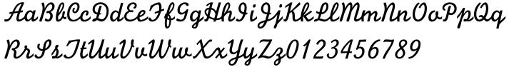 Monoline Script™ Font Sample