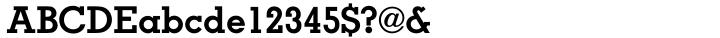 Memphis Font Sample