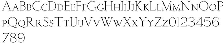 Sackers Light Classic Roman Font Sample