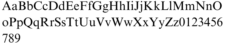 Times New Roman® Font Sample