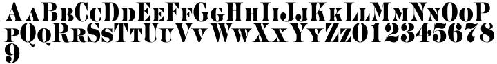 Merchant Font Sample