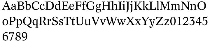 Dutch 809™ Font Sample