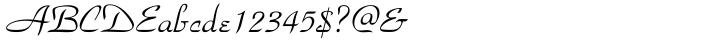 Park Avenue® Font Sample