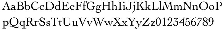 Engravers' Oldstyle 205 Font Sample