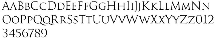 Goudy Trajan Pro™ Font Sample