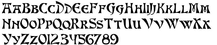 Altenburg Font Sample