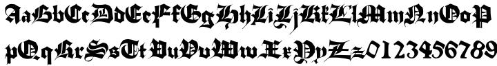 Stuttgart Gothic Font Sample